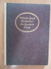 Speck,Wilhelm:Aushalten ! -Ein Quartett-Finale / Novelle 1915 Hamburg