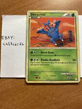 Heracross 43/123 Non-Holo Pokemon HeartGold and SoulSilver Base Set Card Mint!
