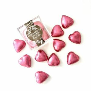CHOCOLATE HEARTS CRYSTAL CANDY CUBE - PINK