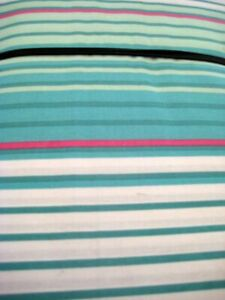 """JC PENNEY HOME RIBBED OMBRE AQUA TEAL WHITE SHOWER CURTAIN NWT 72""""X72"""" POLY"""