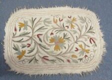 """Vintage Numdah Hand Made Throw Rug Made in India Floral Pattern  36"""" X 25"""""""