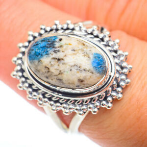K2 Blue Azurite 925 Sterling Silver Ring Size 8 Ana Co Jewelry R73228F