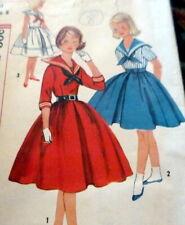 LOVELY VTG 1950s GIRLS DRESS Sewing Pattern 8