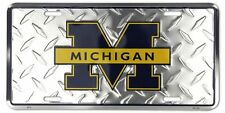 Michigan Wolverines Diamond License Plate Car Truck Tag Go Blue Ncaa Novelty
