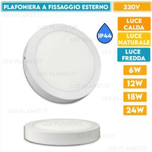 Plafoniera rotonda LED montaggio esterno luce soffitto 6 12 18 24w applique 220v