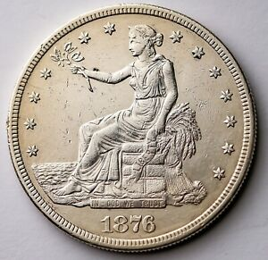 1876-S Trade Silver Dollar Key Date $1. US Great Coin Strong Details 420 GRAINS