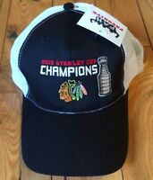 NWT NHL CHICAGO BLACK HAWKS 2015 Stanley Cup Champions Hat