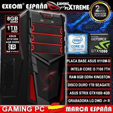 Ordenador Pc Gaming Intel i3 7100 8GB 1TB Asus Strix GTX1050 4GB DDR5 Sobremesa