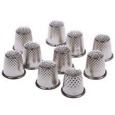 10 pcs Retro Finger Thimble Protector Sewing Pin Neddle Metal Shield