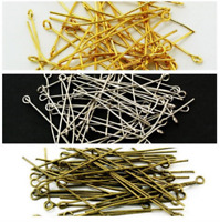 Wholesale Silver/Gold Plated Ball Head Eye Pins Jewelry Finding 16/28/40/50mm