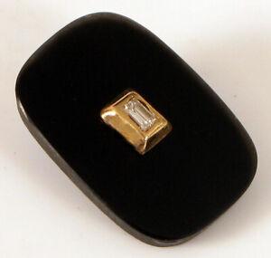 VINTAGE 14K YELLOW GOLD DIAMOND ONYX MEN'S SIGNET RING STONE INSERT PART JEWELER