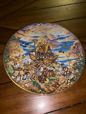 """Franklin Mint Collectible Two By Two By Bill Bell Numbered Plate """"Noah's Ark� 🌅"""