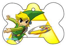 Boomerang Link Zelda Bone Dog Pet ID Tag Custom Image Personalized Key Ring