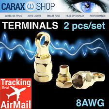"""Ring terminals 8 AWG 5/16"""" Wiring Battery starter Cable Eyelet Screw-In Type set"""