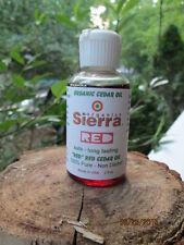 Sierra Organic Eastern Red Cedar Oil 100% Pure Natural OLD school Flea Remedy