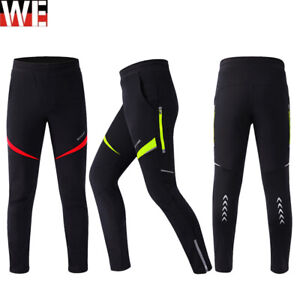 Mens Cycling Tights Winter Thermal Bike Pants Cycle Long Trouser Windproof