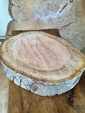 "12"" - 14"" Wooden wedding cake stand, lovely shape Rustic Log slice, Centre Piece"