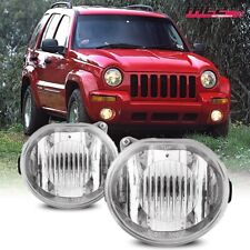For Jeep Liberty 02-04 Bumper Driving Fog lights Lamps Replacement Pair Dot Clea