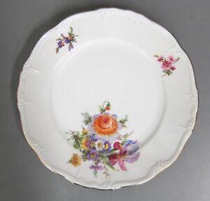 Kuchenteller 19,5 cm Teller Edelstein Maria Theresia Blumenbouquet Goldrand