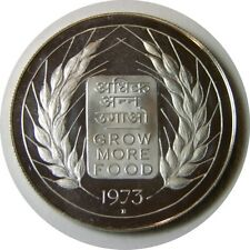 elf India 20 Rupees 1973 B Proof Silver FAO