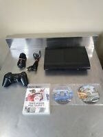 Sony Playstation 3 PS3 Slim 250GB System Console Bundle with 3 games TESTED!