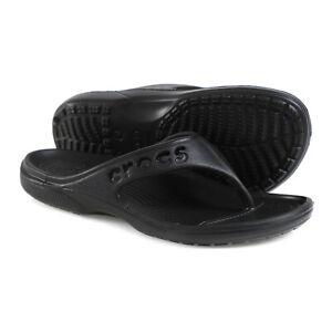 Crocs Unisex Baya Flip Slides Sandals Slipper Black 11999-001