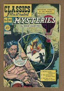 Classics Illustrated 040 Mysteries #1 VG/FN 5.0 1947