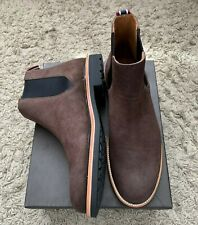 NEW Mens Jcrew Chelsea Boots Water Resistant Italian Dark BROWN Suede UK7.5 EU42