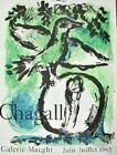 Marc Chagall Original Lithograph Poster Green Bird / Oiseau Vert Mourlot Ltd '62