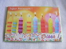 Carte d'anniversaire enfant avec bougies