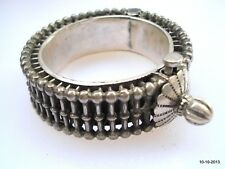 silver bangle bracelet gypsy hippie vintage antique ethnic tribal old