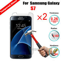 2Pcs Real Tempered Glass Screen Protector Cover Skin Film For Samsung Galaxy S7