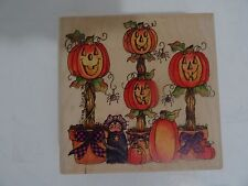 Rubber Stamp Halloween Pumpkin Topiaries Stampassions J-4208