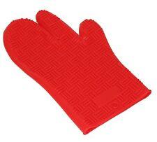 Guante De Horno De Silicona/soporte de olla/(resistente al calor) - líneas-Rojo