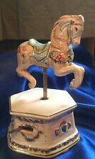 Schmid Musical Collectable Hand Painted Signed Carousel Horse