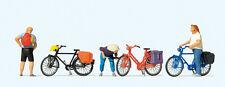 Preiser 10659 Figuren Radfahrer stehend für Modellbahn Anlage etc. 1:87