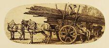 DONALD SHAW MACLAUGHLAN - Gerüstarbeiter mit Pferdegespann - Radierung 1904