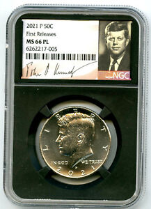 2021 P KENNEDY NGC MS66 PL HALF DOLLAR RETRO SIGNATURE LABEL FIRST RELEASES