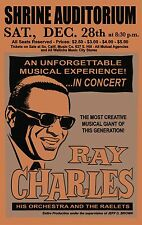 """RAY CHARLES CONCERT POSTER, Los Angeles, JAZZ, BLUES LEGEND 20""""x12"""" print"""