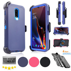 for OnePlus 6T Phone Case Belt Clip fits Otterbox Holster + Built in Screen 1+6T
