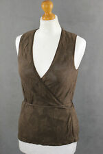 WOLFORD LACE Ladies Brown WRAP TOP - Size Small - S