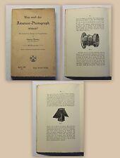 Pflaum Was muß der Amateur Photograph wissen? 1910 Technik Fotografie xy