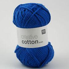 Rico Creative Cotton Aran - 100% Coton Tricot & Crochet Yarn-Royal 39