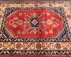 Fine Quality Handmade Afghan Kazakh 4x6 Geometric Patterns Tribal Design Nomadic