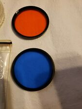 VINTAGE VIVITAR CAMERA LENSES 52mm ORANGE BLUE SPECIAL EFFECTS  USA SELLER