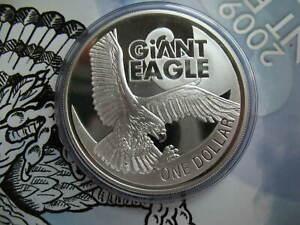 New Zealand 1 Dollar 2009 Silver Prooflike 1Oz Coin Haast's Eagle