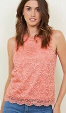 New Look - Coral Lace Scallop Hem Vest Top - Size 8 - BNWT
