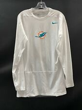 MIAMI DOLPHINS GAME USED DRI-FIT LONG SLEEVE COMPRESSION SHIRT XXL