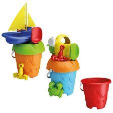 Kids Plastic Castle Mould 7 Piece Beach Bucket Play Toy Sandbox Castle Summer