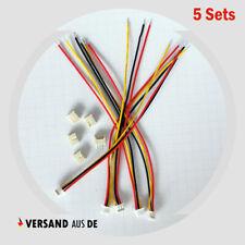 5x JST-XH Micro Mini 1.25mm Stecker 10cm Kabel JST XH Buchsen 1,25mm 3 Pin RC